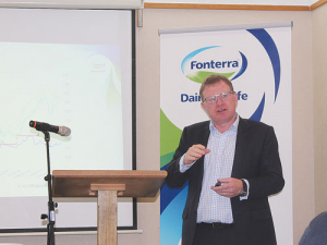 Fonterra chairman John Wilson at the JerseyNZ conference last week.