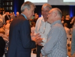 Greg Gent with Earl Rattray and Harry Bayliss at the Fonterra AGM today.