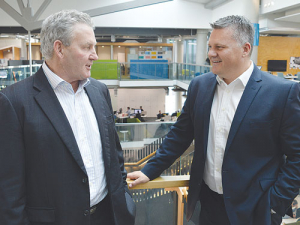 New Fonterra chairman John Monaghan (left) and chief executive Miles Hurrell.