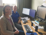 Husband and wife team Lucy Birkett and Danny Donaghy will continue to teach their Massey University students via online from their Palmerston North home.