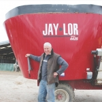 Geoff Hicks with his Jaylor 4425.