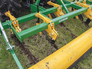 The Earthquaker subsoiler helps break soil pans and improves drainage.
