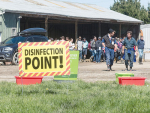 Biosecurity was a major discussion theme at the recent Lincoln University Dairy Farm field day.