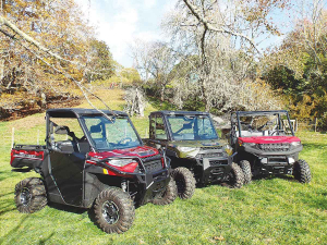 Polaris's latest Ranger selection: the Ranger 1000 EPS, the Ranger 1000 HD-EPS and the Ranger Diesel HD-EPS.