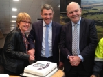 Ministers Nathan Guy, Jo Goodhew and Steven Joyce attended cutting the birthday cake.