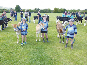 The Whangarei Group Calf Club. Picture: Hukerenui School.
