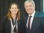 Fed Farmers president Katie Milne and Agricultural Minister Damien O'Connor at last weeks Feds' national conference in Wellington.