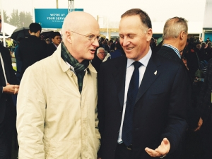 Prime Minister John Key (right) with Irish Ambassador Noel White at the National Fieldays this year.