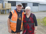 Jean and David Mansfield on their Waihi farm.