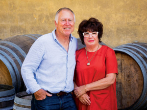 Tim & Judy Finn from Neudorf Vineyards.