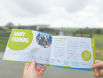 The new booklet lists specific job options in the dairy industry.