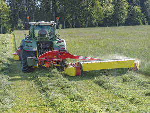 Pottinger says its NOVACAT 402 ED is the biggest rear-mounted mower with conditioner on the market.