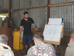 Jamie Haultain, DairyNZ gives a presentation at Clevedon on setting sensible BSC targets.
