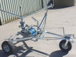 Numedic Adcam 750 irrigator fitted with boom support bracket and braid.