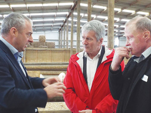 From left: Dairy Goat Co-op chief executive David Hemara, Agriculture Minister Damien O'Connor and DGC chairman Campbell Storey at the launch.
