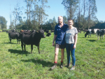 Waikato sharemilker Markus Woutersen and partner Taylor on their farm.