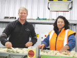 Ohakune commercial vegetable growers Bruce and Stephanie Rollinson.