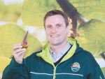 Zespri chief executive Dan Mathieson with the new Red Kiwifruit variety at this year's National Fieldays.