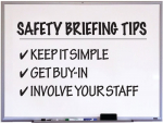 Keep it simple: clearly communicate risks to staff, involve your team and form a clear list together. It's not about table-thumping meetings and reams of paper.