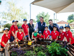 A preschool veggie garden backed by Fonterra Australia.