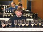 Damian Yvon from Clos Henri, was one of the panel trying to determine which glass is the perfect one for Sauvignon Blanc.