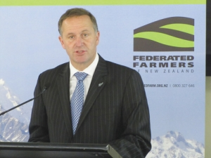 PM John Key claims he does not have political backing to change overseas land ownership rules.