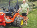 Small likes to keep everything neat and tidy, so two years ago bought a Kubota BX2360 23hp tractor.