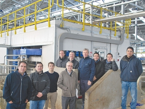 Staff at Fundo El Risquillo, a large farm in Chile are eagerly awaiting the installation of 64 DeLaval VMS milking robots, making it the world's largest robotic milking farm.