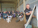 DairyNZ consulting officer Gray Baagley explains the benefits of OAD milking to farmers.
