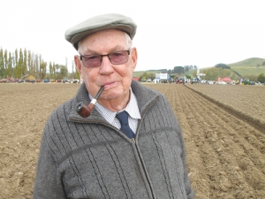 Jim Brooker (83), of Darfield, was an interested spectator at this year's NZ Ploughing Champion.