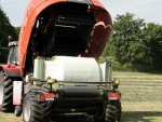 Shapely, secure bales with minimum power