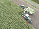Krone has developed a prototype reverse-drive forage harvester that has been undergoing testing in maize.