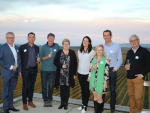 Some of the committee members present at the launch of Sauvignon 2019, held at Brancott Estate Cellar Door and Restaurant. From left: Paul O'Donnell, Marcus Pickens, Clive Jones, Liz Barcas, Michelle Burns, Angela Willis, Patrick Materman and Roscoe Johanson.