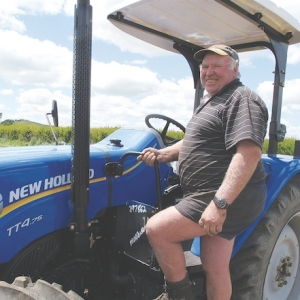 John Guy with the New Holland TT475 tractor.