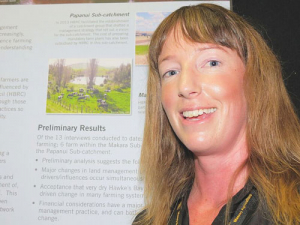 Hawke's Bay Regional Council land management team member Charlotte Drury.