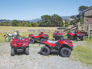Suzuki's KingQuad ATV range was extensively tested and refined for New Zealand farms.