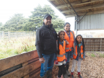 Canterbury/North Otago Share Farmer of the Year Ruwan Wijayasena, his wife Niranjala Gamlath and daughters Methuli and Senuli.