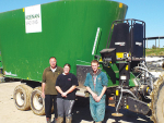 Vertical mixer, feed pad gives flexibility to grass-fed system