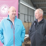 De Laval's Grant Vickers (left) and Neil Milne,Comfort Cow Barns.