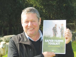 WorkSafe NZ's Nick Barclay with the Safer Farms.