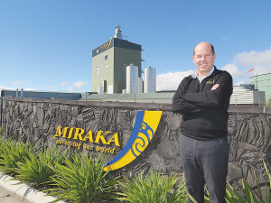 Miraka chief executive Richard Wyeth says last season's payout is slightly behind where they would have liked it to have been.