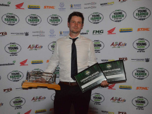 East Coast Young Farmer of the Year winner Joseph Watts.