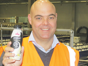 Fonterra's Darren Moffat with the new Anchor protein drink.