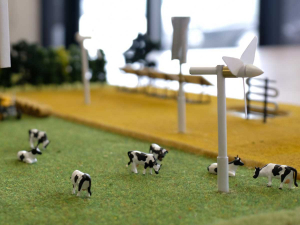 A model of the Energy Demonstration Farm.