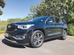 The Acadia is the 'hero' of Holden's new SUV range.
