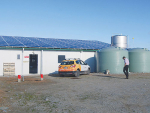 A 30kW solar installation on a rotary milking shed near Rakaia.