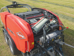 The Kuhn FBP 3135 bale wrapper combination.