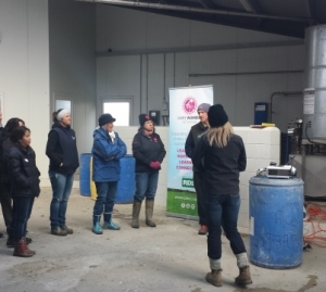 Automation demos for dairy women