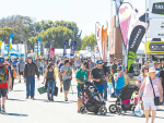 Upbeat crowd, exhibitors at field days