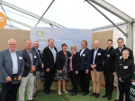 Associate Minister for the Environment Eugenie Sage (middle-right) with Agrecovery board and staff.